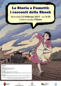 la storia a fumetti i racconti della shoah - 25  febbraio 2015 -
