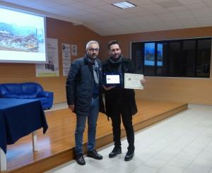 Il vincitore del primo premio Donato Summa e il Sindaco di Filiano Francesco Santoro