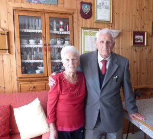 Il Brigadiere Pace e la moglie Carmela Lucia